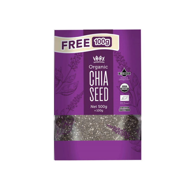 100% Superfoods Chia Seeds 1kg + 200g