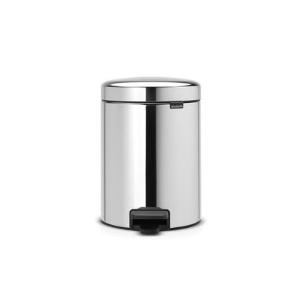 Brabantia Pedal Bin NEWICON 5L Soft Closing -Brilliant Steel