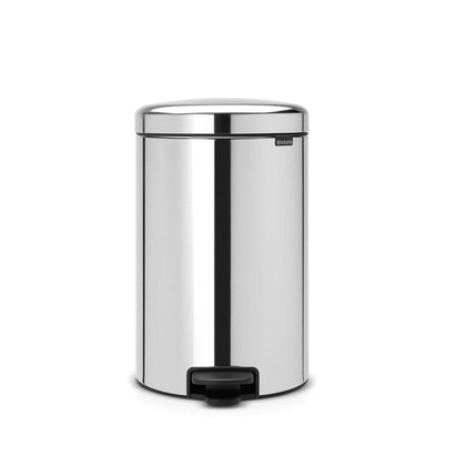 Brabantia Pedal Bin NEWICON 20L Soft Closing -Brilliant Steel