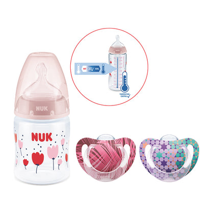 NUK 150ml Temperature Control PP Bottle + Soother