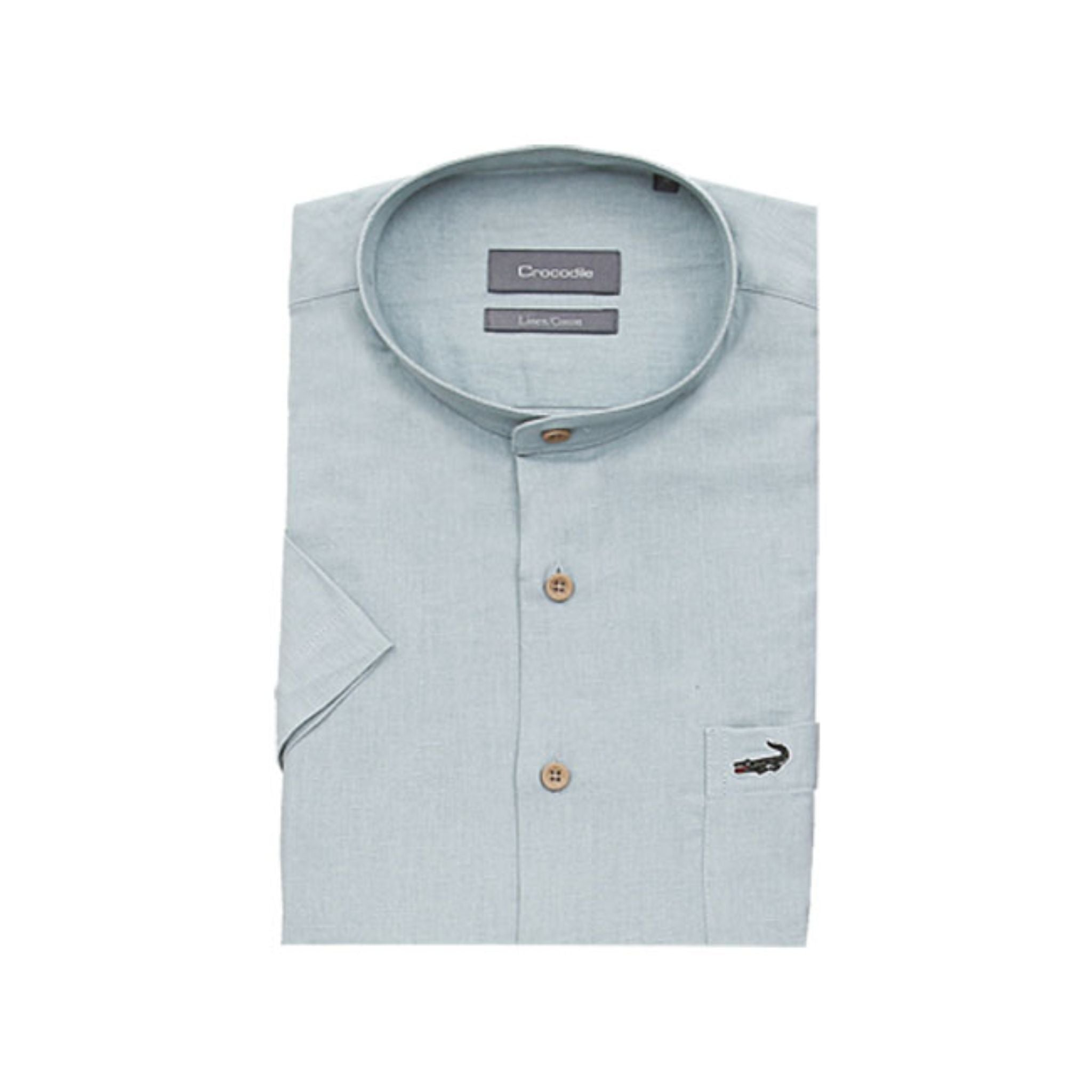 Crocodile Short-sleeved Shirt - Light Green