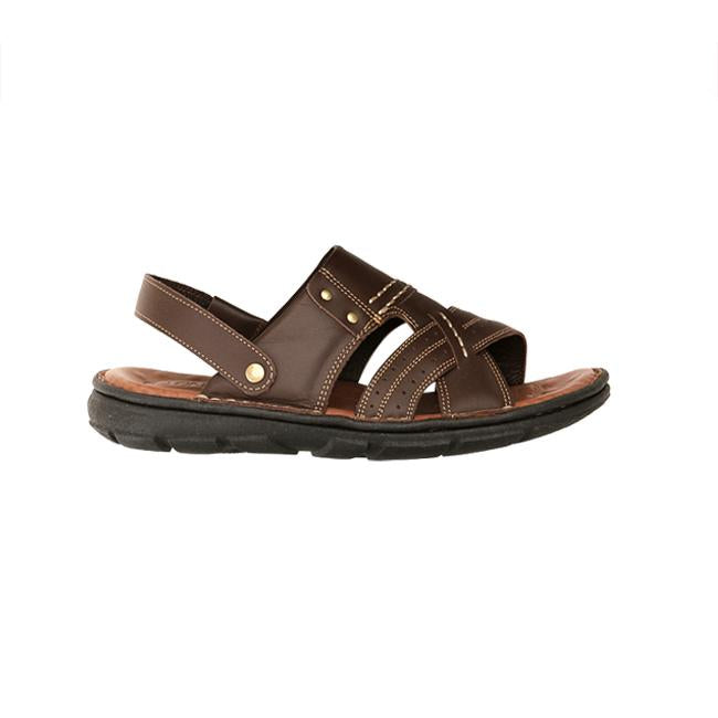 Bruno Co. Augustine Leather Men's Sandal - Brown