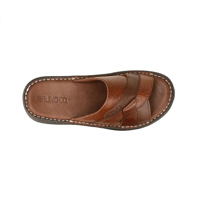 Bruno Co. Daniel Leather Men's Sandal - Brown