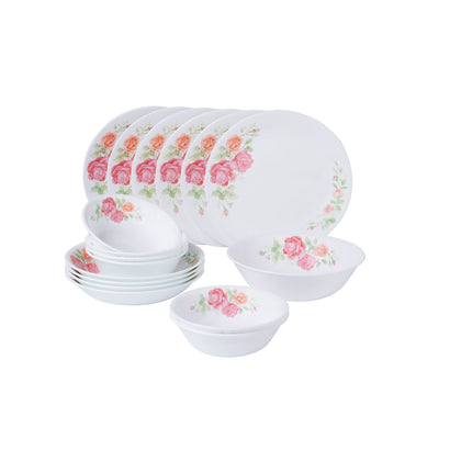 Corelle 17pc Dinner Set - Rosabelle