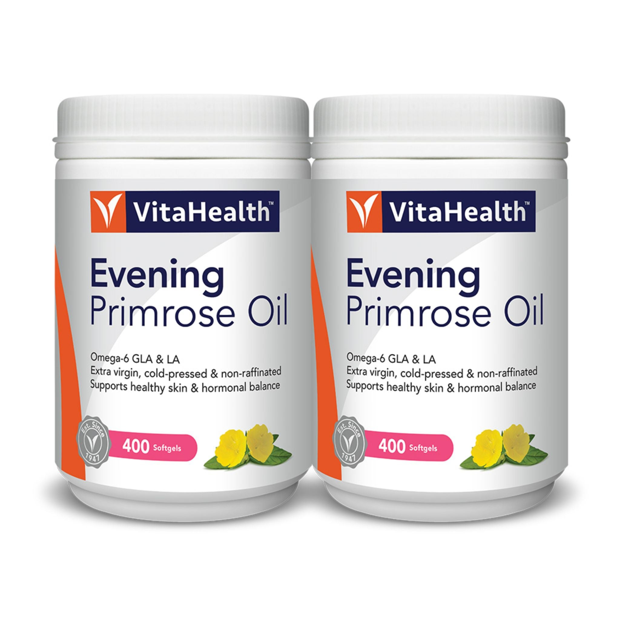 VitaHealth Evening Primerose Oil (Twin Pack)