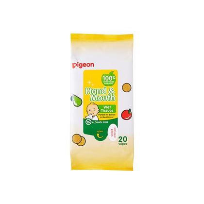 Pigeon Hand & Mouth Wet Tissue, 20S 2 in 1 Bag