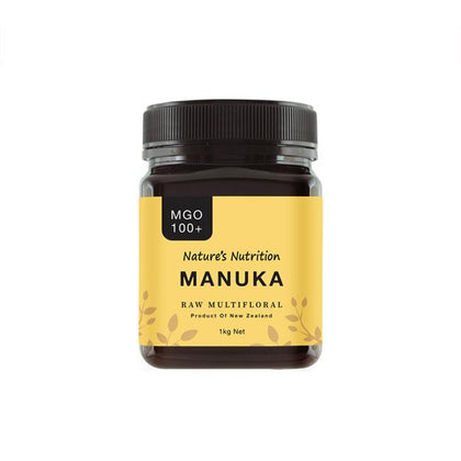 Nature's Nutrition Manuka Raw Multifloral 1KG MGO 100+ x 2