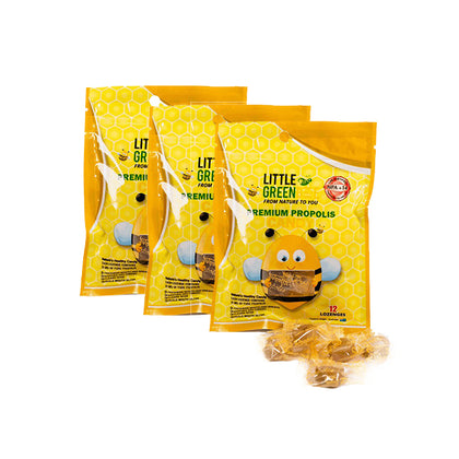 Little Green Bee Premium Propolis Candy 12pcs x 3