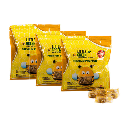 Little Green Bee Premium Propolis Candy 30pcs x 3