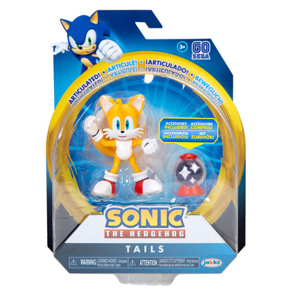 Sonic The Hedgehog 4inch Modern Tails w/ Invincible Item Box