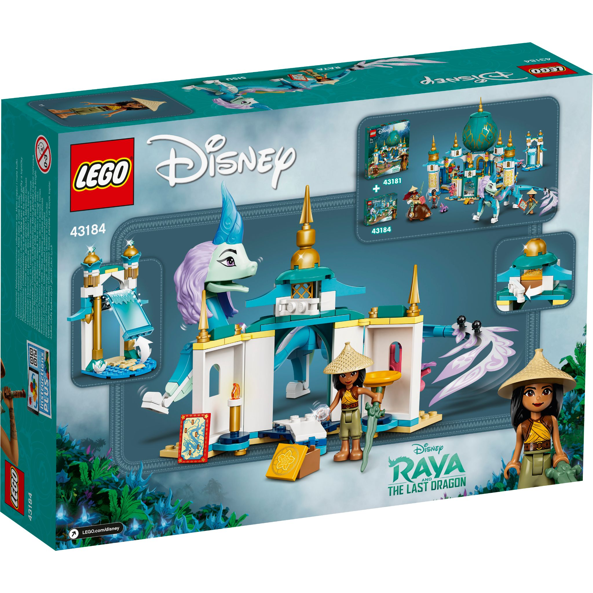 LEGO Disney Princess : Raya and Sisu Dragon 43184