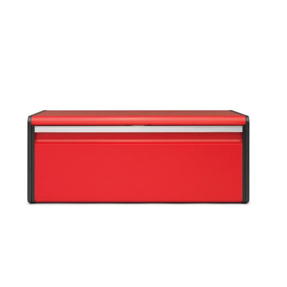 Brabantia Bread Bin Fall Front-Passionate Red