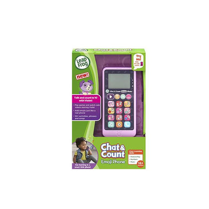 LeapFrog Chat & Count Emoji Smart Phone - Purple
