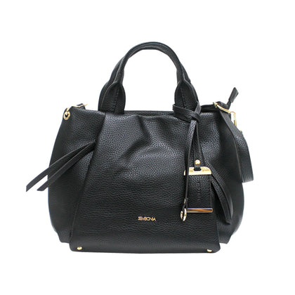 Sembonia Classic Tote with Detachable Long Shoulder Strap - Black