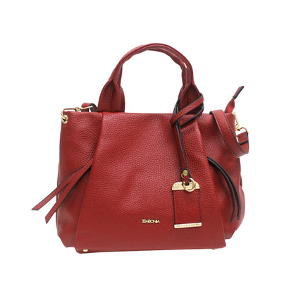 Sembonia Classic Tote with Detachable Long Shoulder Strap - Red