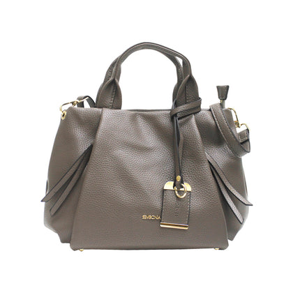 Sembonia Classic Tote with Detachable Long Shoulder Strap - Grey