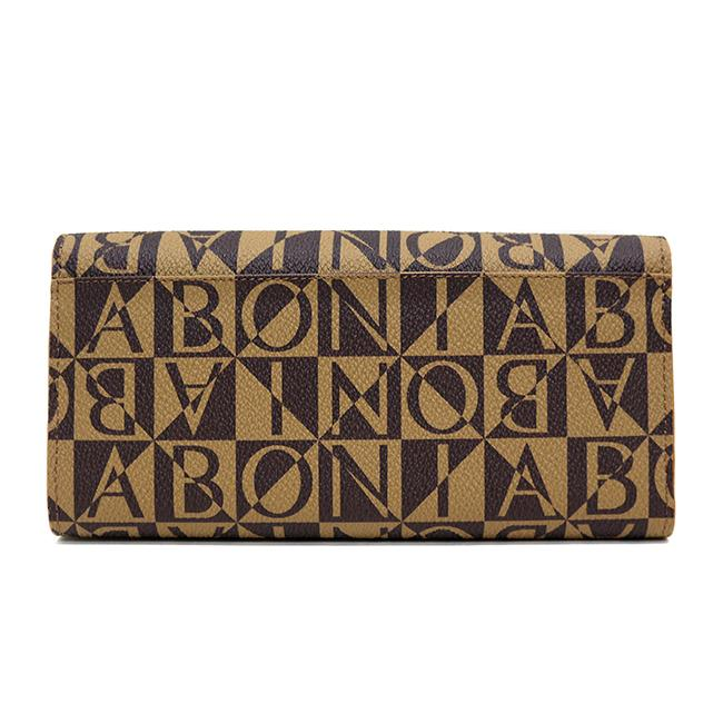 Bonia Monogram Long 2-Fold Wallet- Brown