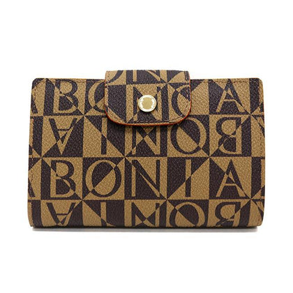 Bonia Monogram 3-Fold Wallet-Brown