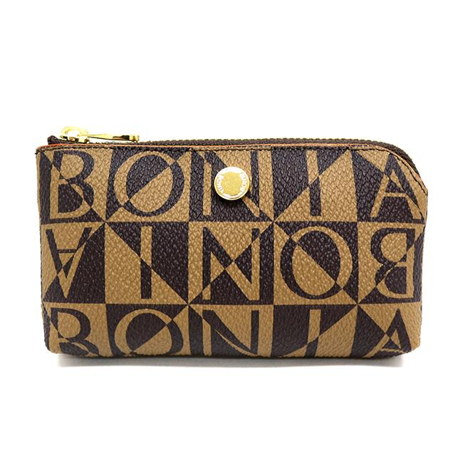 Bonia Monogram Coin Purse-Brown