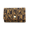 Bonia Monogram Key Holder-Brown
