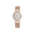 ANNE KLIEN Women's Swarovski Crystal Accented Rose Gold-Tone Mesh Bracelet Watch AK-2418BMRG
