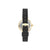 ANNE KLIEN Women's Swarovski Crystal Accented Black Leather Strap Watch AK-3380BKBK