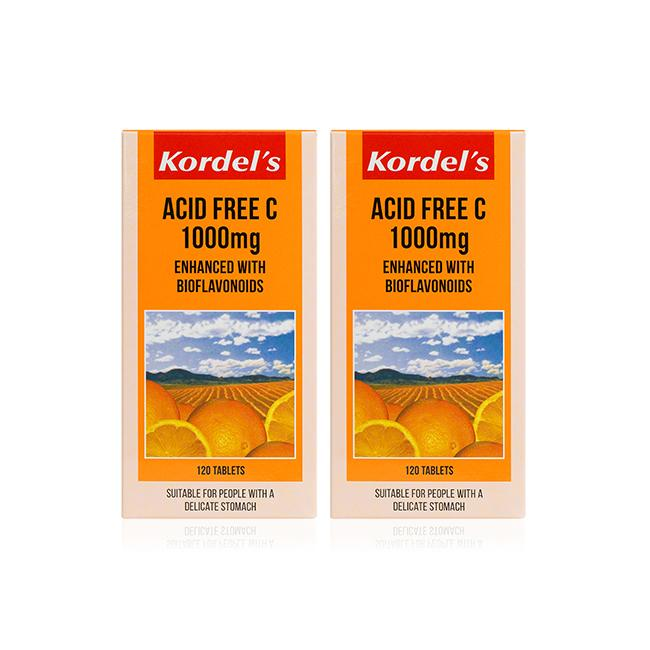 Kordel's Acid Free C 1000mg Twin Pack T120  X 2