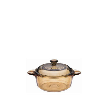 Visions 0.8L Versa Pot with Glass & Plastic Covers - Amber