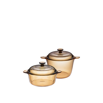 Visions 4pc Versa Pot/Cookpot Set - Amber