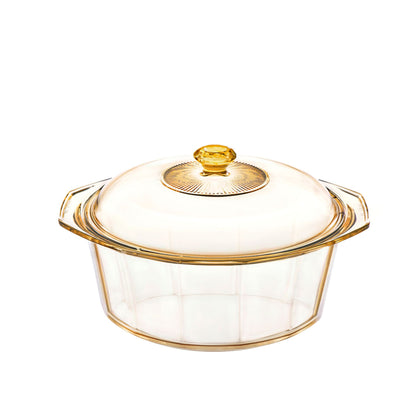 Visions Diamond 4.1L Covered Cookpot - Amber