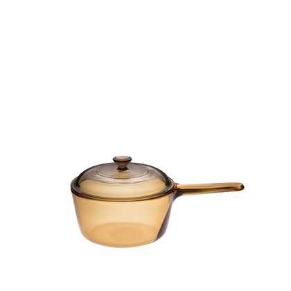 Visions 1L Covered Saucepan - Amber