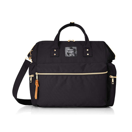 Anello Kuchigane 3-Way Boston Bag - Black
