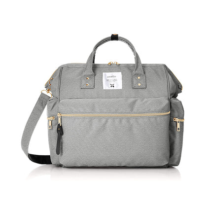 Anello Kuchigane 3-Way Boston Bag - Heather Grey