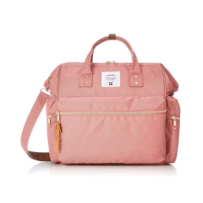 Anello Kuchigane 3-Way Boston Bag - Nude Pink