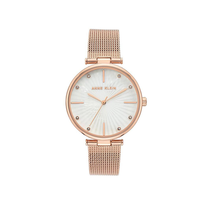 Anne Klein Women's Rose Gold Mesh Ladies Watch AK-3834MPRG