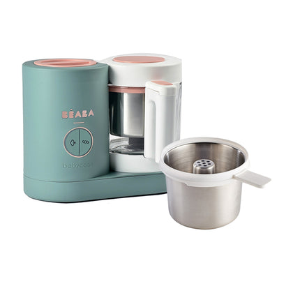 Beaba Baby Cook Neo Baby Food Maker + Free Stainless Steel Pasta/Rice Cooker