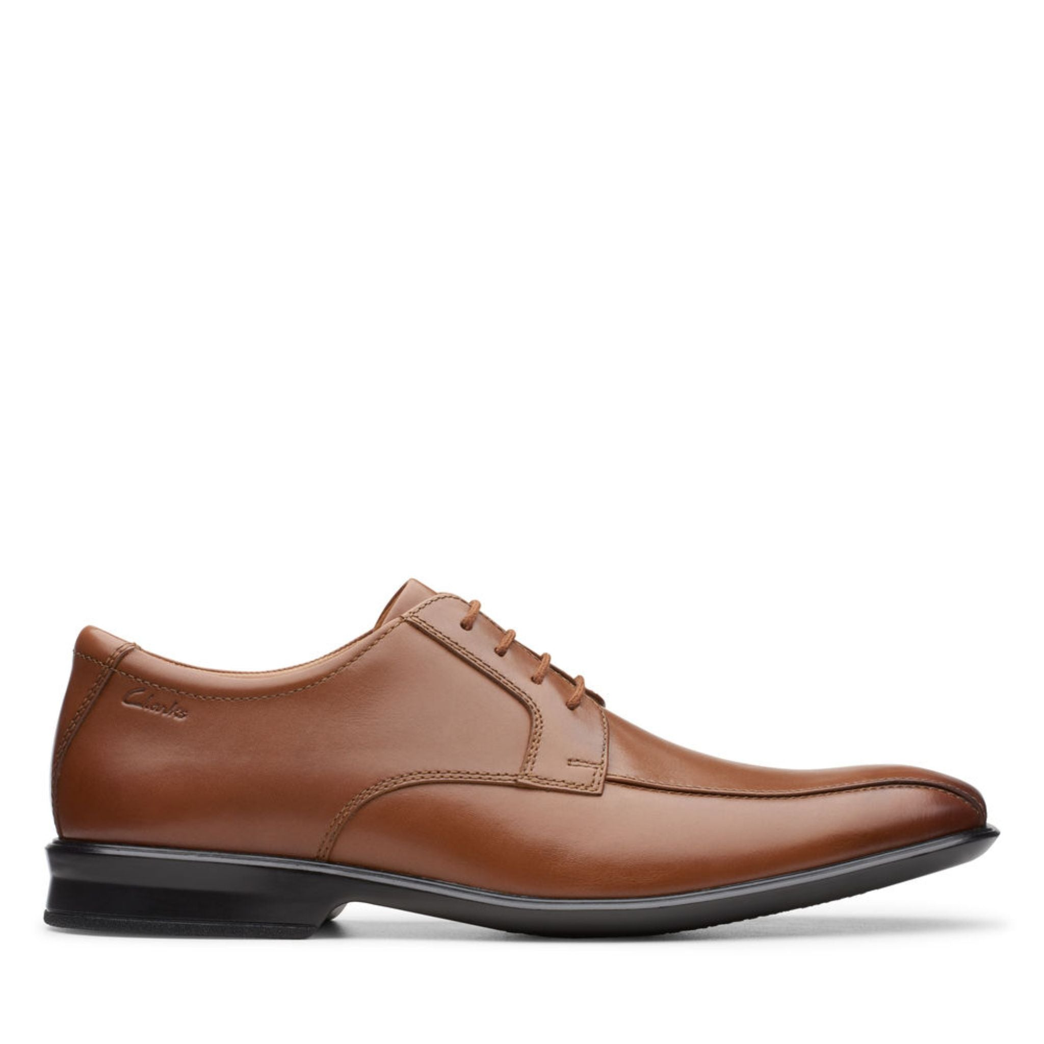 Clarks Bensley Run - Dark Tan Leather