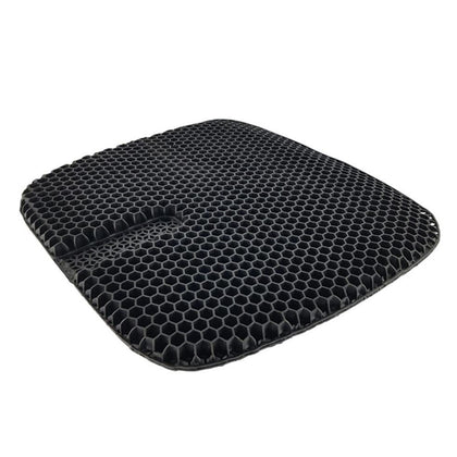 True Relief Honey Comb Cooling TPE Gel Seat Cushion - Black