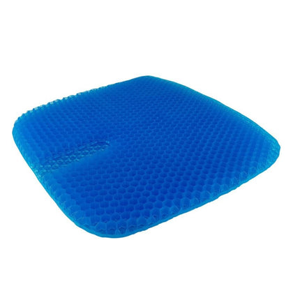 True Relief Honey Comb Cooling TPE Gel Seat Cushion - Blue