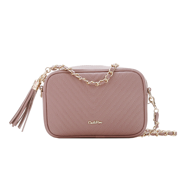 Carlo Rino Quilted Crossbody Bag