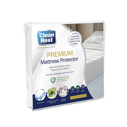 CleanRest Waterproof Premium Mattress Protector - Single