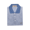 Crocodile Diamond Collection 100% Mercerized Cotton Short-Sleeved Polo - Blue