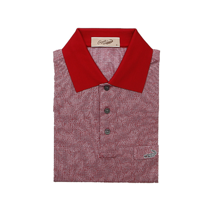 Crocodile Diamond Collection 100% Mercerized Cotton Short-Sleeved Polo - Red