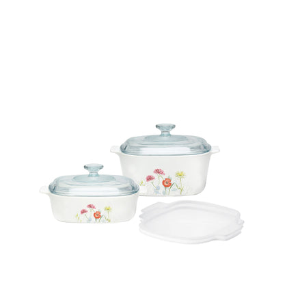 CorningWare 6pc Casserole Set - Daisy Field
