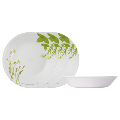 Corelle 4pc 21cm Soup Plate Set - European Herbs