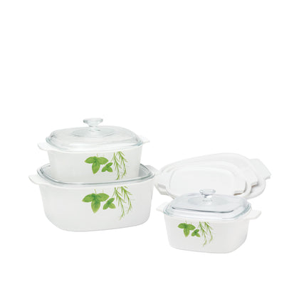 CorningWare 9pc Casserole Set - European Herbs