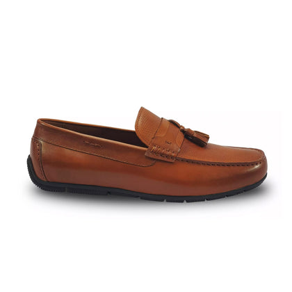 Everbest Leather Moccasin Shoes - Camel