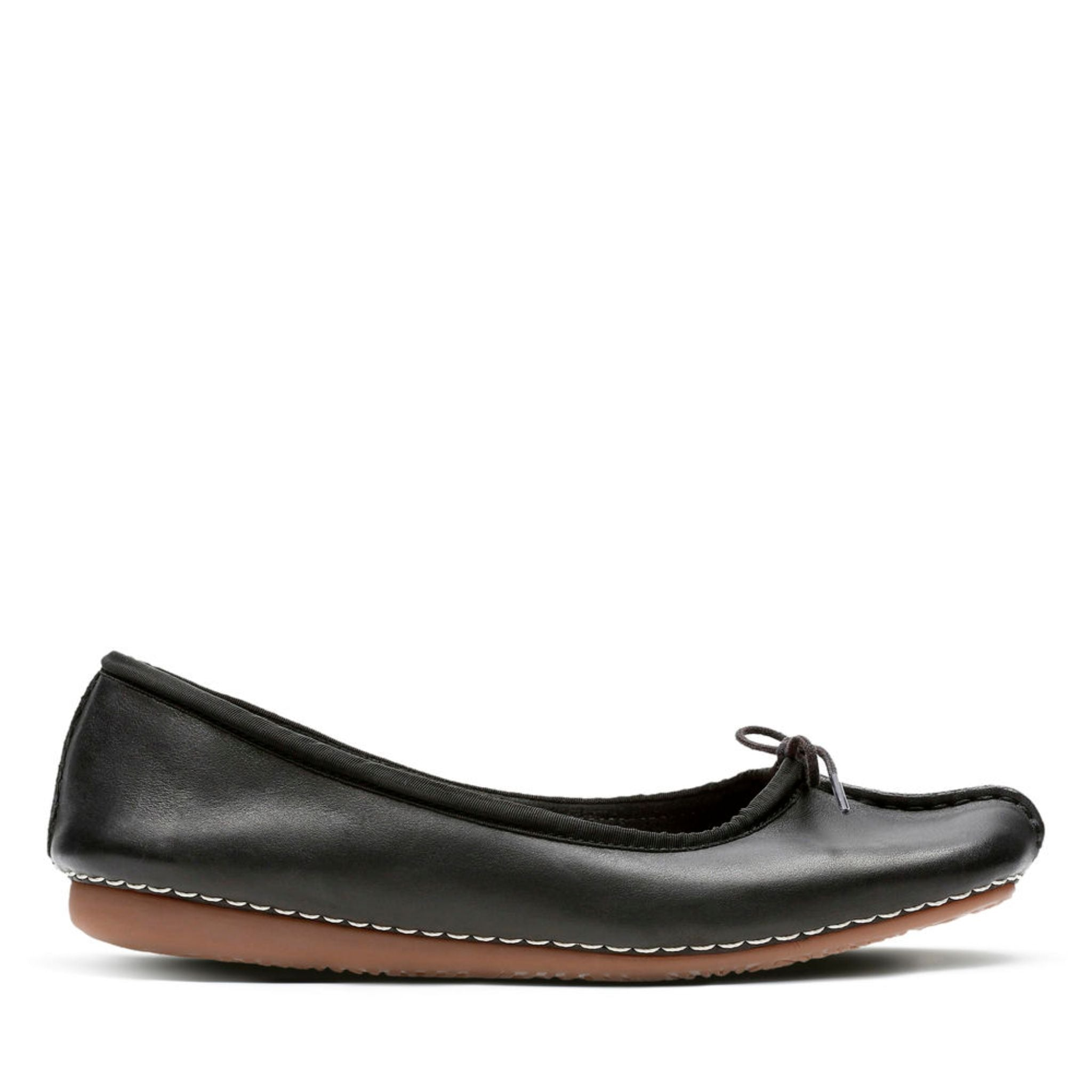 Clarks Unstructured Freckle Ice Black Leather