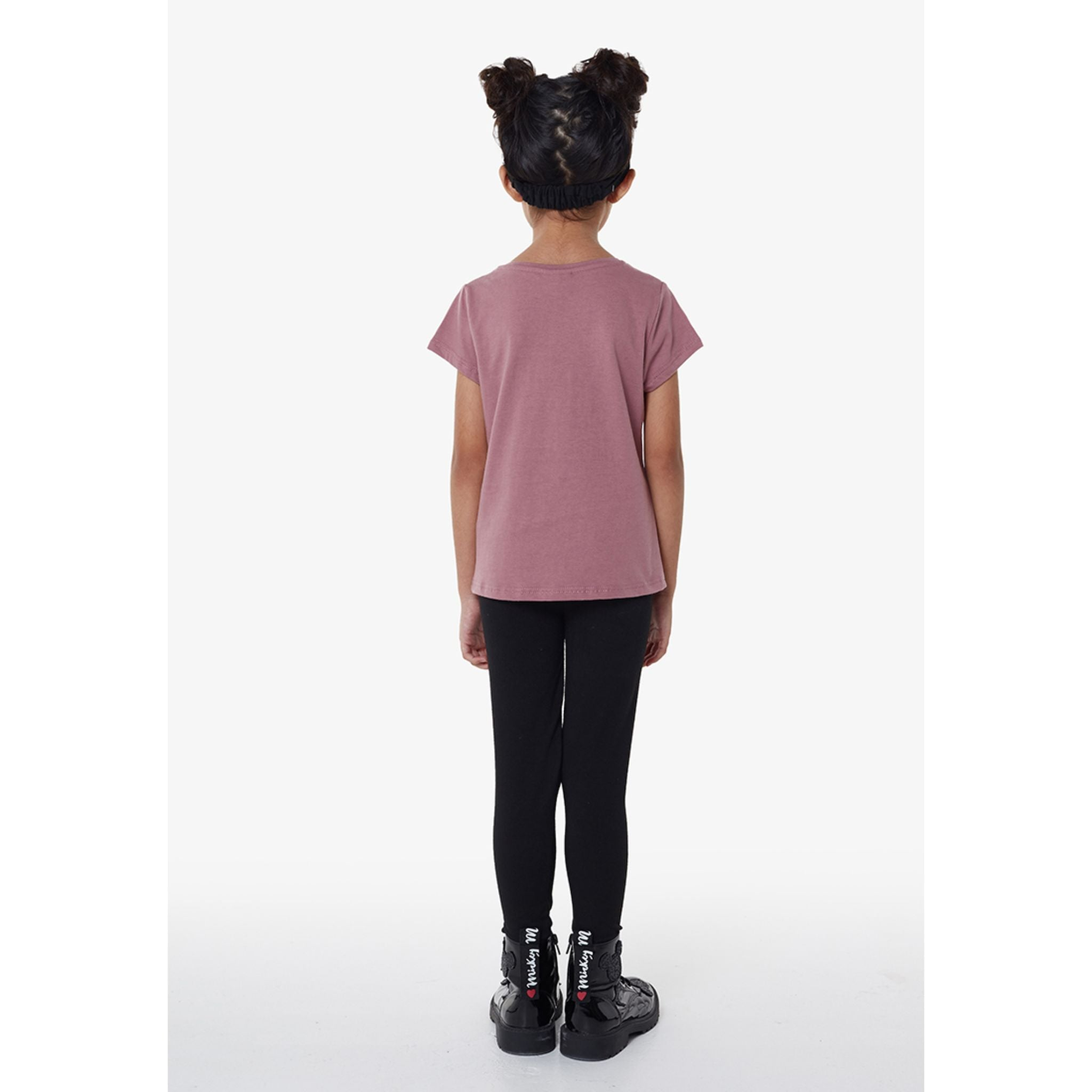 Gen Woo Leopard Embroidered T-shirt - Rose