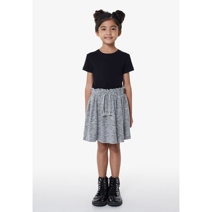 Gen Woo Drawstring Skirt - Grey Marl